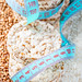 Dietary rice-buckwheat bread with bran and measuring tape