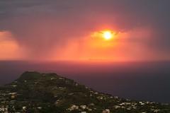 Tramonto e tempesta (rafpas82) Tags: ischia isola isoladischia panza forio serrarafontana campania italia italy isoleflegree tramonto sunset ventotene nuvole clouds nuvoloso rain pioggia temporale storm tempesta mare sea tirreno mediterraneo mediterraneansea fujinon fujifilm xt20 55200fujinon estate temporaleestivo