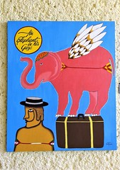 An Elephant in His Gaze (knightbefore_99) Tags: mexico mexican art painting tropical oaxaca dreams huatulco awesome best fantastic gaze cool abstract elephant azul stoned