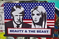 Beauty and the Beast, London, UK (Robby Virus) Tags: london england uk united kingdom unitedkingdom great britain gb greatbritain subdude street art artist paste pasted paper pasteup wheatpaste beauty beast ivanka donald trump
