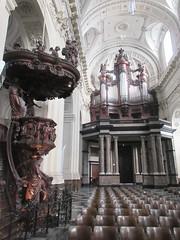 Pulpit and organ, Cathédrale Saint-Aubain, Namur, Belgium (Paul McClure DC) Tags: namur namen belgium belgique wallonia wallonie ardennes feb2018 cathedral historic architecture