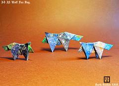 A4 A5 Wolf Fox Dog - Barth Dunkan. (Magic Fingaz) Tags: origamidog origamichien origami barthdunkan origamiwolf origamirenard origamifox origamiloup wolf fox dog paperfoolding paperart