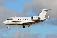 OY-VAY Bombardier Challenger 605 EGNS 30/1/19 (David K- IOM Pics) Tags: iom isleofman isle man ronaldsway airport egns oy oyvay bombardier cl60 challenger 605 business jet vampire vmp vmp689
