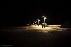 """Skeggy"" (lucyrogersphotography) Tags: night photography street streetlights streetphotography outside skegness beach seaside lights bench sand uk"
