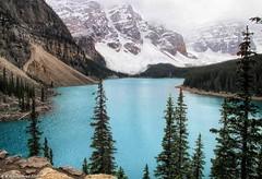 "The ""Twenty Dollar View"", Banff National Park, Alberta Canada (PhotosToArtByMike) Tags: morainelake twentydollarview rockpile canadian20dollarbill towerofbabel landslides banff banffnationalpark valleyofthetenpeaks canadianrockies albertacanada mountain mountains emeraldlake tenpeaks bluegreen turquoisecoloredwater"