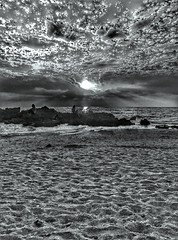 Gray Sunset (Ori Liber) Tags: skyvision sky summer telaviv israël artistic people shadows sea cloud clouds sun daylight blackandwhite sunsetview graysky graysunset gray dark