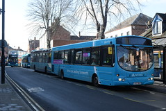 AMN 3727, 3929, 3504 and 4412 @ Victoria Road, Tamworth (ianjpoole) Tags: arriva midlands vdl sb200 wright pulsar 1 yj57bue 3728 volvo b7rle eclipse urban ke07evy 3929 scania k230ub omnilink yn08hzr 3504 alexander dennis enviro 400 yx64vmg 4412 working route 5 victoria road tamworth kerria amington 7 tutehill stonydelph 8 torridge hockley 4 ivatt glascote heath respectively
