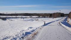 2019 Bike 180: Day 43, March 3 (olmofin) Tags: 2019bike180 finland bicycle polkupyörä snow lumi pyörätie shared path lumix 14mm f25