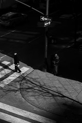 One Way (Kenneth Laurence Neal) Tags: newyorkcity urban cities street streetphotography contrast shadows people blackandwhite blackdiamond monochrome monotone canonrebelt6i canon silhouette noir