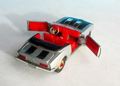 Corgi Toys No. 343 Pontiac Firebird 1969 With Red Spot Wheels : Diorama Futuristic Double Moon - 2 Of 13 (Kelvin64) Tags: corgi toys no 343 pontiac firebird 1969 with red spot wheels diorama futuristic double moon