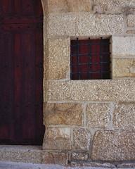 Main entrance - detail (lebre.jaime) Tags: portugal beira covilhã ourladyofthecalvary chapel entrance portal door window hasselblad 503cx distagon cf4050fle epson v600 affinity affinityphoto analogic film120 kodak ektar100 mf mediumformat 6x6