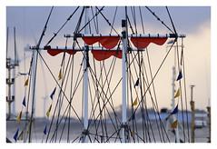 Rigging (Myrialejean) Tags: bridlington harbour rigging sails ship boat coast