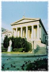 Greece - Athens - National Library (ottilia dozsa) Tags: greece gorogorszag athens athen building epulet architecture epiteszet oldphoto scanned ybjij xaags hansen