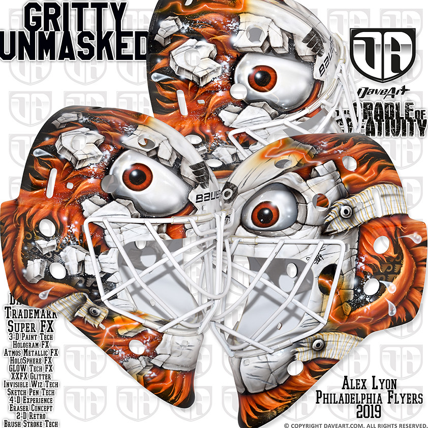 487513ded73 Gritty Unmasked (DaveArt MaskGallery) Tags: lyon philadelphia flyers nhl  daveart