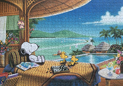 Snoopy on Holiday (.Pooky.) Tags: puzzle jigsaw peanuts snoopy