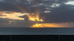 puerto del cotillo (rey perezoso) Tags: 2019 elcotillo fuerteventura islascanarias españa europa sunset cloud horizon ocean atlantic eu streetlamp spain port harbor canaries wall mar naturallight sunray backlight