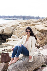 fringe cardigan, silk button down top, blush suede booties, bucket bag-11.jpg (LyddieGal) Tags: anthropologie thrifted spring oldnavy jeans fashion boots outfit blush white beach monogram denim gap connecticut weekendstyle style marleylilly wardrobe swap rayban joie tjmaxx
