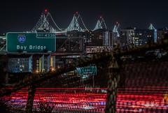 bay bridge exit (pbo31) Tags: bayarea california night dark black nikon d810 march 2019 boury pbo31 city spring sanfrancisco urban lightstream traffic 80 highway 101 missiondistrict baybridge sign rence red color over