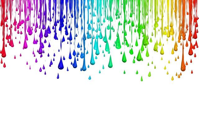 Обои капли, разноцветный, радужный, фон картинки на рабочий стол, фото скачать бесплатно