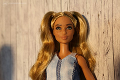 love your freckles & perfect hair (photos4dreams) Tags: dress barbie mattel doll toy photos4dreams p4d photos4dreamz barbies girl play fashion fashionistas outfit kleider mode puppenstube tabletopphotography diorama scenes 16 canoneos5dmark3 minidress minikleid franny blond blonde