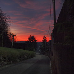 Under a blood red sky (ccrrii) Tags: tramonto sunset inverno winter cielo sky red rosso cremnago inverigo brianza lombardia co