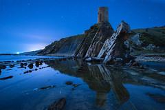 _DSC0733 (fjsmalaga) Tags: ngc nocturna playa rocas torre eccenario flik estrellas reflejo espejo