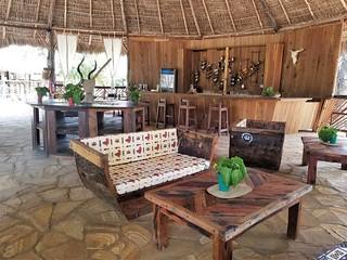Bushman in Africa Safari Selous bar & restaurant