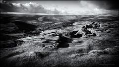 Looking towards LaFarge (G. Postlethwaite esq.) Tags: bw derbyshire higgertor lafarge nationalpark peakdistrict blackandwhite cementworks drystonewall eyesore fields grass landscape monochrome outdoor photoborder rocks trees unlimitedphotos