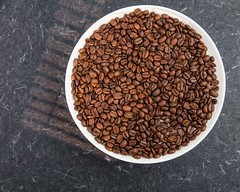 Coffee beans (annick vanderschelden) Tags: coffee bean coffeebeans brewer flavour roasted intense solid fiery espresso refined aroma taste colour seed pit caffeine beverage alkaloid proteins carbohydrates endosperm arabica plate layer belgium
