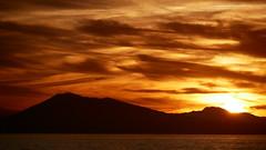 (An Arzhig) Tags: sunset water sea ocean mer océan coucher de soleil orange clouds cloud nuages nuage biarritz pays basque france panasonic lumix gx800 140mm 43