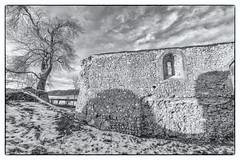 Bix Old Church /4 (FlickrDelusions) Tags: aonb bbowt tamronsp1024mmf3545diii oxfordshire ruins church bix blackandwhite chilternhills bixbottom warburgnaturereserve bw chilterns naturereserve bixoldchurch henleyonthames england unitedkingdom gb