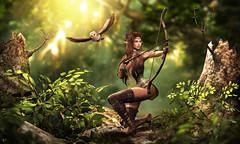 Tyrael (meriluu17) Tags: elf elven guardian guard fae fairy fanta fantasy surreal magic magical hunter hunt people ears owl jian enchantment animal wild nature forest woods tree