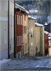 The Left Side of the Lane (pixel_unikat) Tags: lane row buildings austria upperaustria mühlviertel colorful facades winter windows haslachandermühl