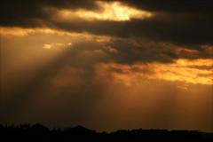(*Kicki*) Tags: sunset sky clouds skyline orange stockholm sweden 400mm viewfromhome nacka