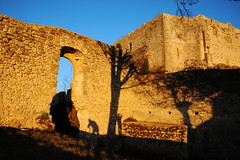 bi-selfie in the castle of Vicalvi (sandrorotonaria) Tags: selfie castle ruin sun shadow tree sunset ciociaria alvito