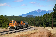 Parks (conrail6809) Tags: bnsf gees44dc burlingtonnorthernsantafe ge gevo santafe train trains locomotive mountains forest railroad railfan railfanning parks az arizona williams parksaz williamsaz freighttrain