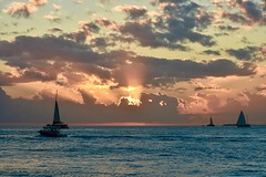 Silver lining sunset - Key West (stevelamb007) Tags: evening clouds nature florida keywest mallorysquare water boat sunset nikon d7200 stevelamb