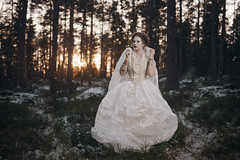Wishes only come true in fairytales (AlexanderHorn) Tags: fantasy portrait outdoor winter cold woods forest fairytale fairy princess queen cosplay photoshoot