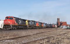 Colourful 385 (Joseph Bishop) Tags: ic 2720 ge c449lw cndundassubdivision trains train track tracks railfan railroad railway rail rails 385