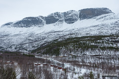 Skibotn Valley (kevin-palmer) Tags: norway scandinavianmountains arctic march winter snow snowy nikond750 ivgojohka river water tamron2470mmf28 cloudy overcast norwegian skibotn falesgaisa tromscounty forest