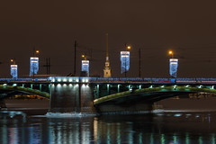 Chandeliers and mirrors - Люстры и зеркала (Valery Parshin) Tags: russia saintpetersburg canoneos70d canonefs55250mmf456isstm neva bridge evening valeryparshin river reflection