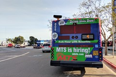 MTS Bus (So Cal Metro) Tags: bus metro transit mts sandiegotransit sandiego gillig advantage lowfloor rt4 bus808 800 downtown eastvillage wrap ad advertising promotion marketing