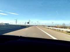 Windmills in Germany (van1o) Tags: winter highway ontheroad iphonex germany windmills