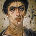 Mummy portrait of a Romano-Egyptian woman from the Hawara Cemetery in the Fayum region of Egypt 2nd century CE