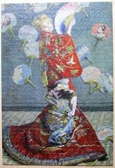 La Japonaise, 1876 (pefkosmad) Tags: jigsaw puzzle hobby leisure pastime pomegranate used secondhand complete 1000pieces claudemonet lajaponaise painting art fineart kimono fans wife
