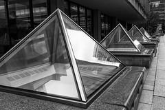 Pyramids (trochford) Tags: pyramids skylights glass sidewalk urban perspective pearlstreet financialdistrict boston bostonma ma massachusetts newengland usa us unitedstates bw bnw blackandwhite blackwhite noiretblanc blancoynegro mono monochrome canon canon6d ef24105mmf4lisusm ef24105