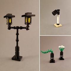 Lantern Experiment (MOCs created for New Elementary) (betweenbrickwalls) Tags: legopart lego legotechnique buildingtechniques lantern lamp interiordesign afol
