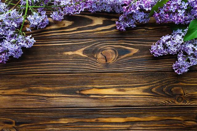 Обои фон, доски, сирень картинки на рабочий стол, раздел цветы - скачать