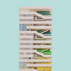 Nou barris (Alonso Vaca) Tags: architecture minimalist minimal arquitectura barcelona blue stairs
