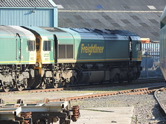 66557 (S.G.J) Tags: freightliner midlandroad leeds class66 66557